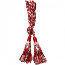 Silver / Red Silk Bagpipe Cord