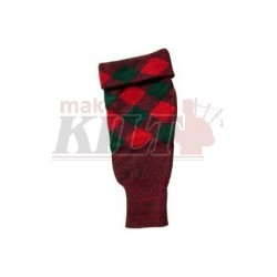Green & Red Hose top in 100% pure wool