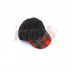 Worsted Wool Tartan Peak Baseball Cap