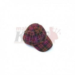 All Over Worsted Wool Tartan Baseball Cap