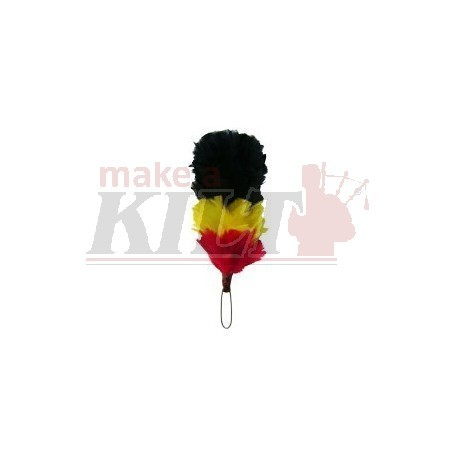 Black / Yellow / Red 4 Inch Feather Hackle