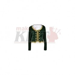 Green Velvet Highland Dance Jacket full sleeve