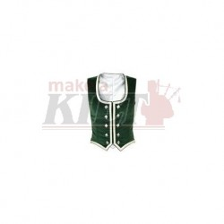 Green Velvet Highland Dance Vest sleeveless