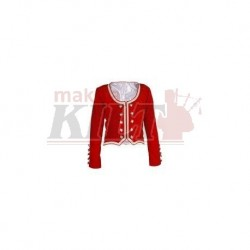 Bright Red Velvet Highland Dance Jacket full sleeve