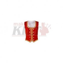 Red Velvet Highland Dance Vest sleeveless