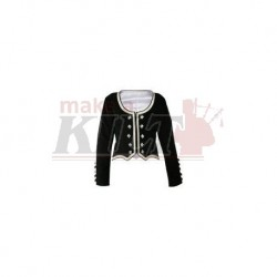 Black Velvet Highland Dance Jacket full sleeve