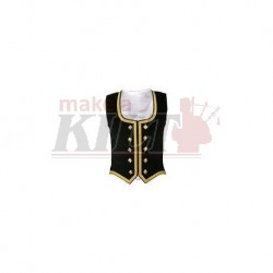Black Velvet Highland Dance Vest sleeveless