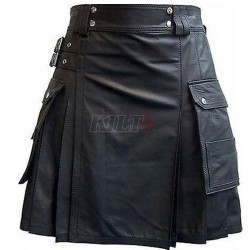 Scottish Leather Kilt