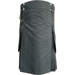 Grey Cotton kilt