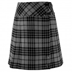 Scottish Wears Granite Gray Tartan Skirts Cross Diagonal Belt New Billie Kilts
