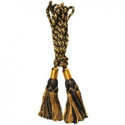 Gold / Black Silk Bagpipe Cord