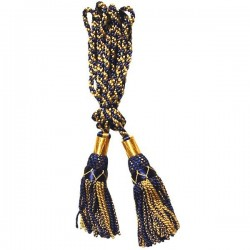 Gold / Navy Silk Bagpipe Cord